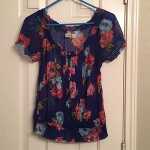 Small Hollister sheer blouse